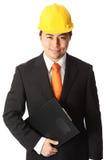 Привлекательный мастер в защитном шлеме Стоковое фото RF