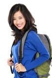 Привлекательный молодой счастливый студент с сумкой Стоковые Изображения RF