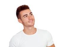 Привлекательный парень с spiky волосами Стоковое Изображение RF