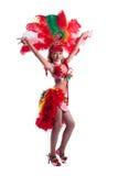 Привлекательный танцор самбы представляя в студии Стоковые Фото