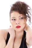 Привлекательный усмехаясь портрет женщины Стоковое Фото