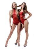 2 привлекательных атлетических девушки Стоковые Фото