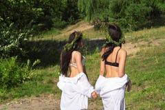 2 привлекательных женщины из воды Стоковые Фотографии RF