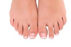 Пригвоздите внимательность для ног женщин Стоковые Фотографии RF