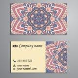 Приглашение, визитная карточка или знамя с шаблоном текста кругло иллюстрация вектора