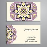 Приглашение, визитная карточка или знамя с шаблоном текста Круглый fl Стоковые Изображения