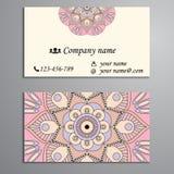 Приглашение, визитная карточка или знамя с шаблоном текста Круглый fl Стоковая Фотография