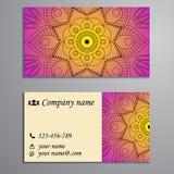 Приглашение, визитная карточка или знамя с шаблоном текста Круглый fl Стоковые Фотографии RF