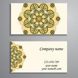 Приглашение, визитная карточка или знамя с шаблоном текста Круглый fl Стоковое фото RF