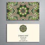 Приглашение, визитная карточка или знамя с шаблоном текста Круглый fl Стоковое Фото