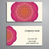 Приглашение, визитная карточка или знамя с шаблоном текста Круглый fl Стоковое Изображение