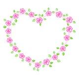 Приглашение граници/венчания Rose Стоковое Изображение RF