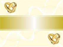 приглашение золота карточки звенит венчание бесплатная иллюстрация
