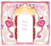 приглашение карточки звенит венчание Стоковые Фотографии RF