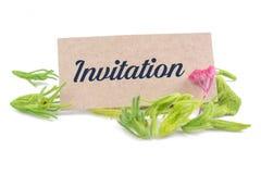 Приглашение на карточке Стоковое Фото