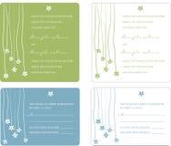 приглашение обшивает панелями венчание Стоковые Изображения