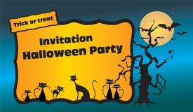 Приглашение партии Halloween иллюстрация штока