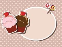 Приглашение пирожного иллюстрация вектора