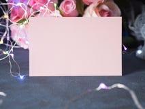 Приглашение поздравительной открытки дня ` s валентинки Стоковая Фотография RF