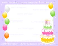приглашение поздравительой открытки ко дню рождения Стоковые Фотографии RF