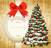 приглашение рождества праздничное к Стоковое Фото
