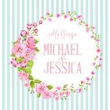 Приглашение свадьбы с вишней цветения Стоковая Фотография RF