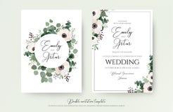Приглашение свадьбы, флористическое приглашает современный дизайн карточки: свет - пинк бесплатная иллюстрация