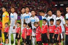 Приглашение 2017 футбола Бангкока международное стоковая фотография rf