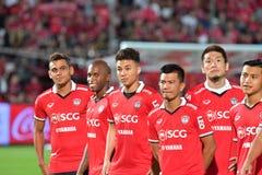 Приглашение 2017 футбола Бангкока международное стоковое фото