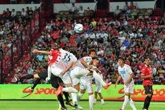 Приглашение 2017 футбола Бангкока международное стоковая фотография