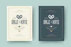 Приглашения свадьбы сохраняют иллюстрацию вектора дизайна карточек даты стоковая фотография