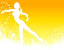 пригодность танцульки предпосылки иллюстрация штока