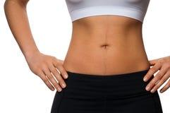 пригонка женщины тела стоковое фото rf