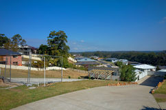 Пригород городка Австралии пляжа Valla с жилыми домами Стоковые Изображения RF