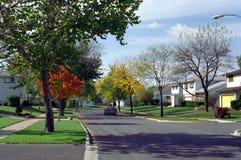 пригород улицы chicago illinois западный Стоковое фото RF