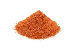 Пригорошня земного порошка chili стоковое изображение rf
