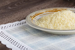 Пригорошня зерен риса стоковое изображение rf