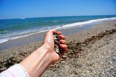 Пригорошня камешков Стоковое Изображение RF