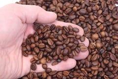 пригорошня кофе Стоковые Фотографии RF