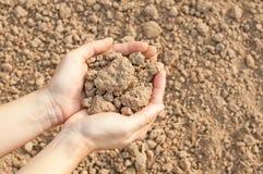Пригорошня почвы Стоковые Фото