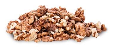Пригорошня прерванных грецких орехов стоковая фотография