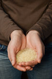 Пригорошня риса Стоковое Фото