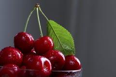 Пригорошня сладостной вишни стоковое фото rf