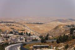 Пригород восточного Иерусалима и городок западного берега Стоковая Фотография RF
