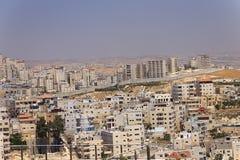 Пригород восточного Иерусалима и городок западного берега Стоковое Изображение