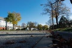 Пригородная улица стоковая фотография rf