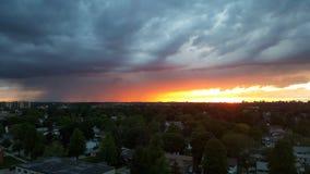 Пригородный комплект солнца города Стоковая Фотография RF
