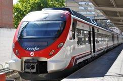 Пригородный поезд Cercanias стоковые фото
