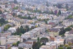 Пригородный район Castro, Сан-Франциско CA стоковое изображение rf