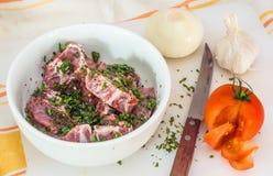 Приготовление уроков кухни для горячего карри Стоковые Изображения RF